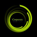 Abstract bright swirl circle logo Royalty Free Stock Photos