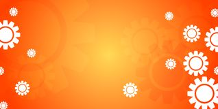 Abstract bright tech banner design with gears Stock Images