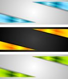 Abstract bright tech banners Stock Images