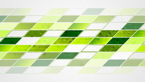 Abstract bright tech geometric video animation. Green and blue colors stock footage