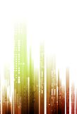 Abstract bright tech geometry background. Vector design royalty free illustration