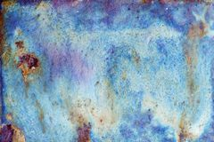 Abstract bright texture with divorces of blue, violet, heavenly and sand color stock image