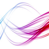 Abstract bright transparent swoosh lines background Stock Image