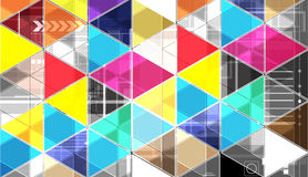 Abstract bright triangle technology background Stock Photo