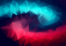 Abstract bright vector background of polygonal elements. Contrasting colors. The movement of color and geometric shapes. Horizontal format A4 Stock Images