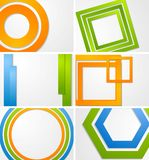 Abstract bright vector backgrounds Stock Image