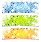 Abstract bright vector tech banners Stock Photos