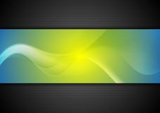 Abstract bright wavy banners Stock Image
