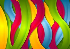 Abstract bright wavy stripes background. Vector colorful modern design Royalty Free Stock Photo