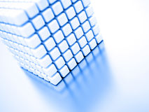 Abstract bright white cubes Royalty Free Stock Photos
