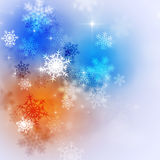 Abstract Bright Winter Background Stock Photos