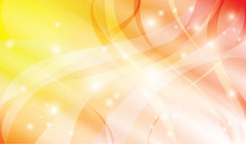 Abstract bright yellow and red vector background Royalty Free Stock Image
