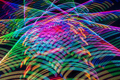 Abstract of Brightly Colored Light Streaks Royalty Free Stock Photos