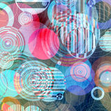 Abstract brightness background. Graphic brightness abstract background with geometric elements Stock Photo