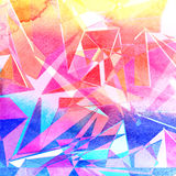 Abstract brightness background. Graphic brightness abstract background with geometric elements Stock Image