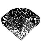 Abstract brilliant. Vector brilliant black and white . Hand drawn  illustration Stock Photography