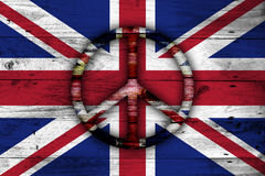 Abstract British flag. Stock Photos