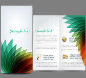 Abstract brochure. Professional business catalog template or corporate brochure design with inner pages Stock Image