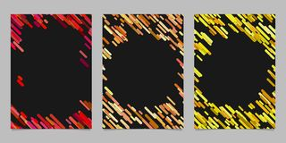 Abstract brochure template set with colored diagonal stripes. Abstract brochure background template set with colored diagonal stripes Royalty Free Stock Photos