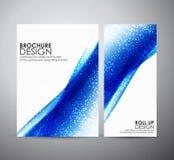 Abstract brochure bedrijfsontwerpmalplaatje of broodje omhoog Stock Afbeeldingen