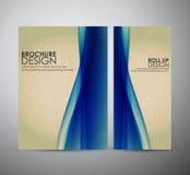 Abstract brochure bedrijfsontwerpmalplaatje of broodje omhoog Royalty-vrije Stock Afbeeldingen