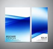 Abstract brochure bedrijfsontwerpmalplaatje of broodje omhoog Royalty-vrije Stock Fotografie