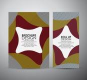 Abstract brochure bedrijfsontwerpmalplaatje of broodje omhoog Stock Afbeelding