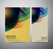 Abstract brochure business design template or roll up. Vector illustration Stock Photo