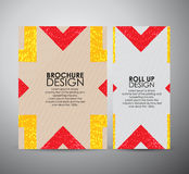 Abstract brochure business design template or roll up. Vector illustration Royalty Free Stock Photography