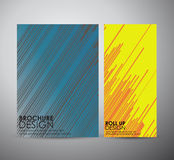 Abstract brochure business design template or roll up. Vector illustration Royalty Free Stock Images