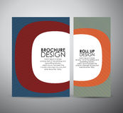 Abstract brochure business design template or roll up. Vector illustration Stock Image