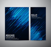 Abstract brochure business design template or roll up. Vector illustration Royalty Free Stock Image