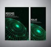 Abstract brochure business design template or roll up. Vector illustration Stock Images