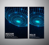 Abstract brochure business design template or roll up. Stock Images