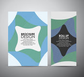 Abstract brochure business design template or roll up. Vector illustration Stock Photos