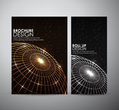 Abstract brochure business design template or roll up. Royalty Free Stock Photo