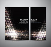Abstract brochure business design template or roll up. Stock Photo