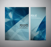 Abstract brochure business design template or roll up. Vector illustration Royalty Free Stock Photo