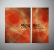 Abstract brochure business design template or roll up. Vector illustration Royalty Free Stock Photos