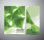 Abstract brochure business design template or roll up. Vector illustration Stock Photography