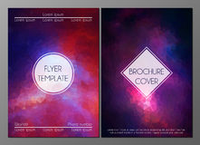 Abstract brochure covers design templates Stock Image
