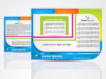 Abstract brochure design concept Stock Images