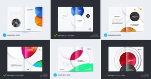 Abstract brochure design, modern catalog, centerfold cover, flyer in A4. With colourful smooth shapes for finance, branding. Business vector presentation royalty free illustration