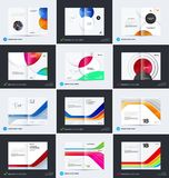 Abstract brochure design, modern catalog, centerfold cover, flyer in A4. With colourful smooth shapes for finance, branding. Business vector presentation stock illustration