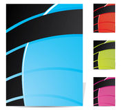 Abstract brochure design set Royalty Free Stock Photo