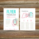 Abstract Brochure Flyer design, checklist Royalty Free Stock Image