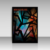 Abstract brochure flyer design in geometrical polygonal triangle Royalty Free Stock Photography