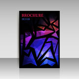 Abstract brochure flyer design in geometrical polygonal triangle Stock Image