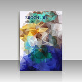 Abstract brochure flyer design in geometrical polygonal triangle Stock Photo