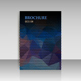 Abstract brochure flyer design in geometrical polygonal triangle Royalty Free Stock Photos